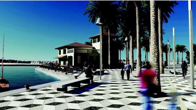 So soll das neue Hafengelände in Molinar aussehen.