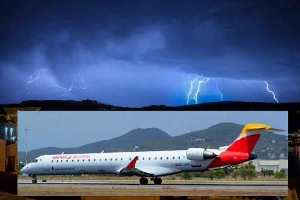 Eine solche Maschine der Air Nostrum wurde in Palma vom Blitz getroffen.