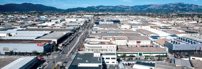 Das Industriegebiet von Son Castelló vor den Toren Palmas.