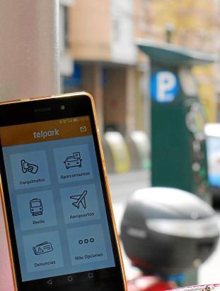 Die App von Telpark erleichtert das Parken in Palmas Ora-Zonen.