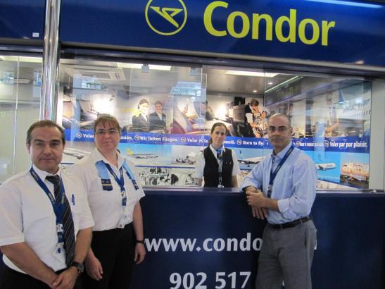 Das Archivfoto von 2013 zeigt den Schalter der Fluggesellschaft Condor am Airport von Palma de Mallorca.