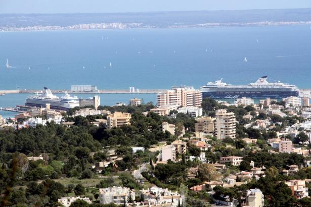 Die schwimmenden Hotels der Mein-Schiff-Flotte gehören zu den Stammgästen im Hafen von Palma. Hier sind zwei gleichzeitig zu Bes