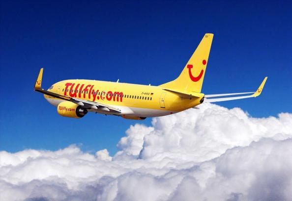 Mallorca-Flug von Tuifly.