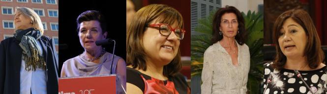 Carmen Riu, Carmen Serra, Bel Busquets, Carmen Planas und Francina Armengol.