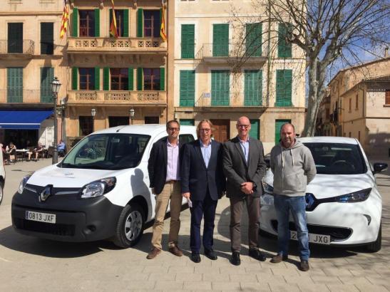 Die Gemeinde Llucmajor hat sich im vergangenen Jahr bereits E-Autos angeschafft.