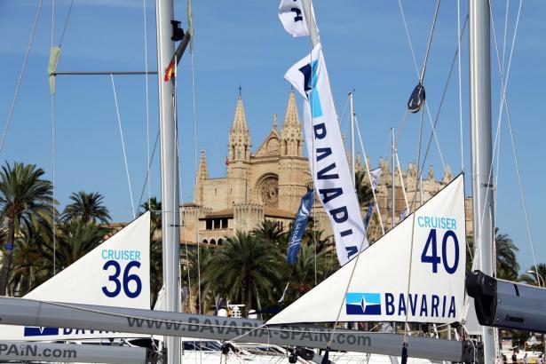 Die Bootsmesse auf der Alten Mole in Palma de Mallorca.