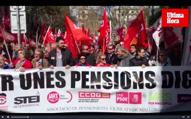 Tausende Rentner haben am Samstag in Palma demonstriert.