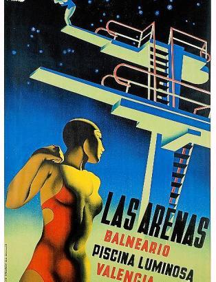 """""""Las Arenas"""" ist die Litografie von Josep Renau aus dem Jahr 1932 überschrieben."""