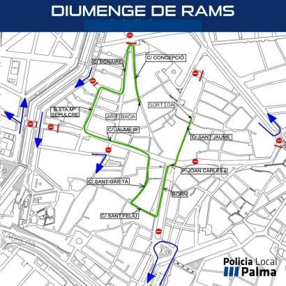 So verläuft die erste Oster-Prozession dieses Jahres in Palma.