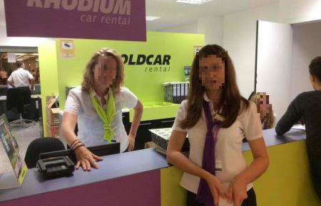 Goldcar betreibt auch eine Verleihstation am Flughafen von Palma.