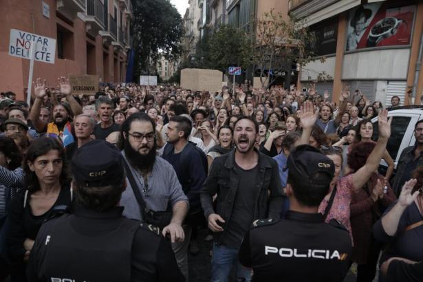 In Palma fanden bereits Demonstrationen für die Unabhängigkeit Kataloniens statt.