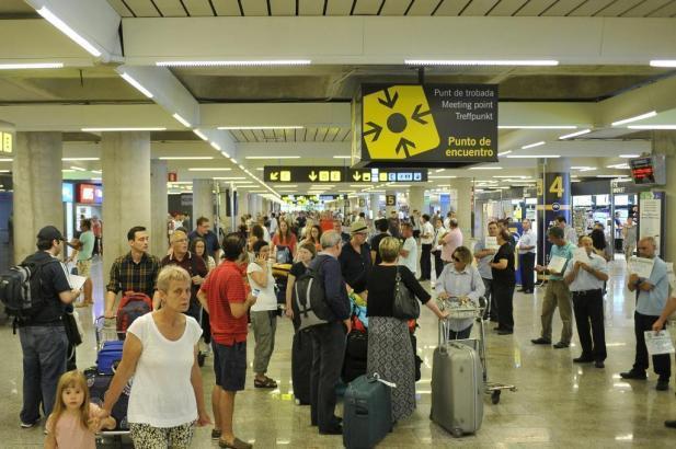 Rund um die Ostertage erwartet der Flughafen Palma fast eine Million Passagiere.