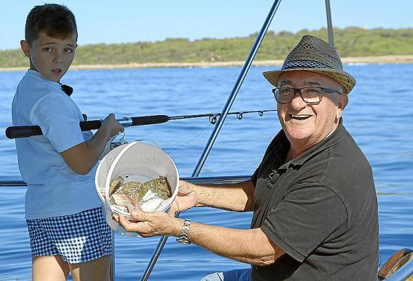 Angelexperte Manolo Barahona muss heute den teuersten Fisch Mallorcas fangen, den Raor.