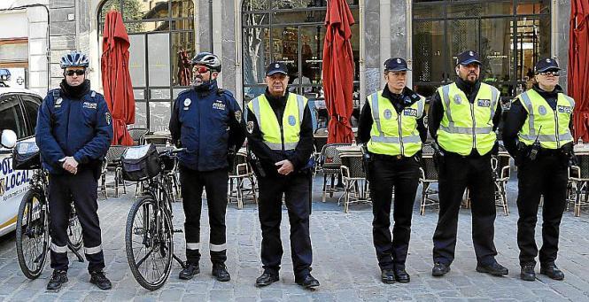 Die Lokalpolizei sorgt im Stadtgebiet Palmas für Sicherheit.