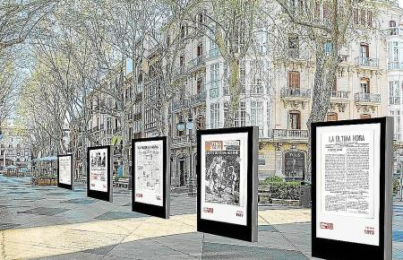 So ungefähr soll die Ultima-Hora-Ausstellung auf dem Paseo del Borne aussehen.