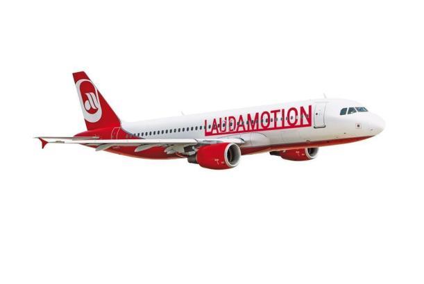 Laudamotion-Maschine im Anflug auf Mallorca.