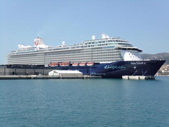 """Am Mittwoch lag die """"Mein Schiff 6"""" erstmals im Hafen von Palma."""
