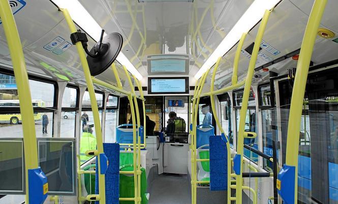 So ähnlich wie in diesem Bus in Madrid soll es auch in den Palma-Bussen bald aussehen.