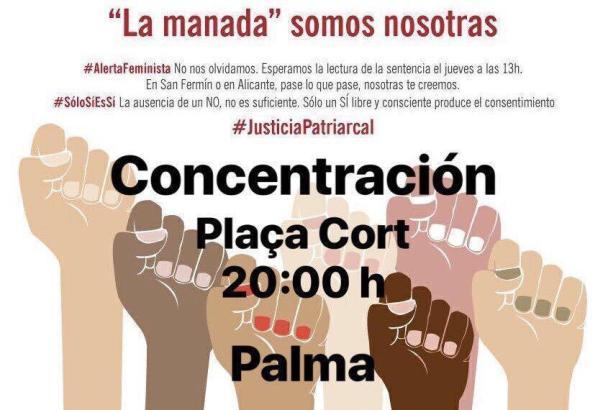 Feministengruppen rufen zum Protest auf.