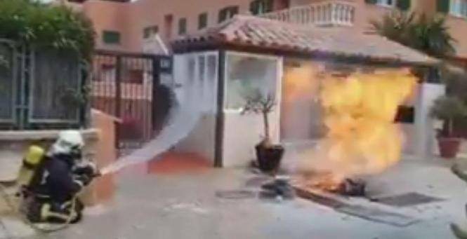 Gasleck führte in Santa Ponça zu einem Brand.