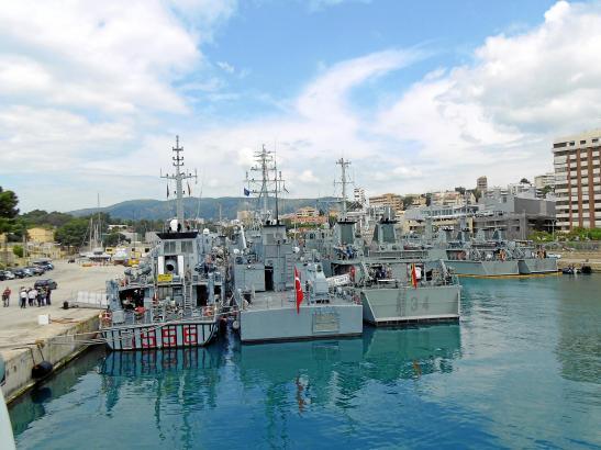 Einige der Schiffe im Hafen von Palma de Mallorca.