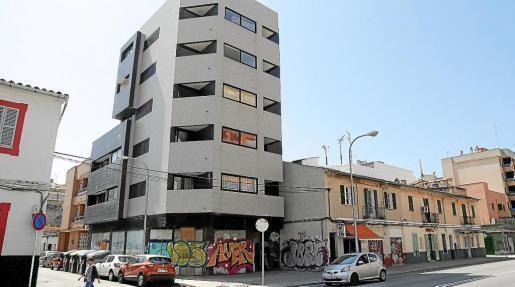 So sieht das besetzte Gebäude aus.