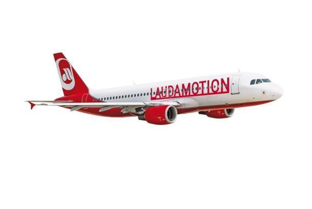 Maschine von Mallorca-Flieger Laudamotion.