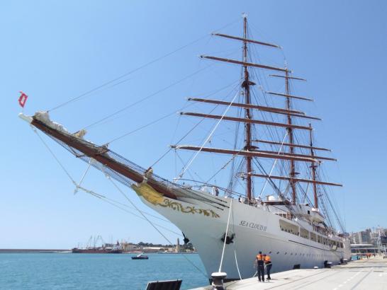 Die Sea Cloud II macht zurzeit Station in Palma.