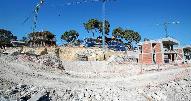 Das ist der Stand der Bauarbeiten am Hotel Son Vida.