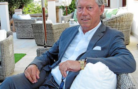 Werner Mang beim Gespräch mit MM im Restaurant Campino in Camp de Mar.
