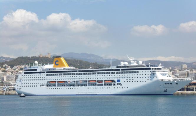 Im Sommer vergangenen Jahres war die Costa neoRiviera wöchentlich im Hafen von Palma.