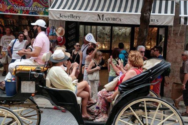 Touristenkutsche in Palma.