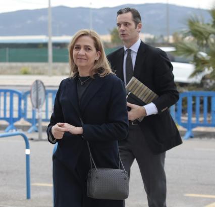 Urdangarin und Infantin Cristina bei einem Gerichtstermin auf Mallorca.