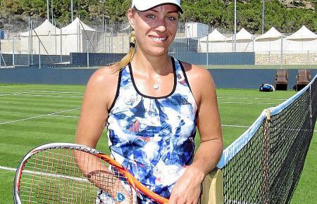 Angelique Kerber nimmt zum ersten Mal an den Mallorca Open teil. Die Anlage in Santa Ponça kennt sie aber schon von einigen Trai