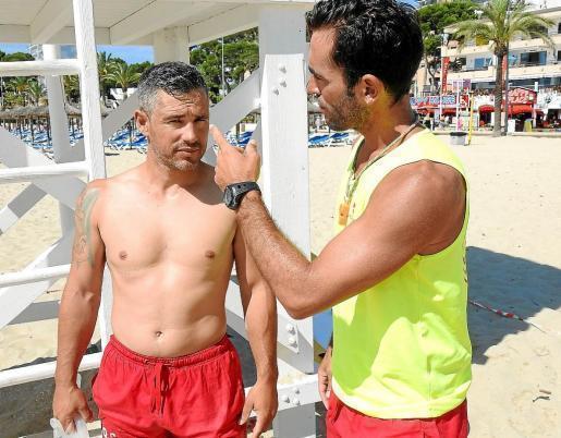 """Diese beiden Rettungsschwimmer wurden von Briten attackiert. Sie gaben """"Ultima Hora"""" ein Interview."""