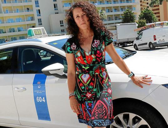 Mari Carmen Navarro ist die Vorsitzende des Taxifahrerverbandes von Calvià.