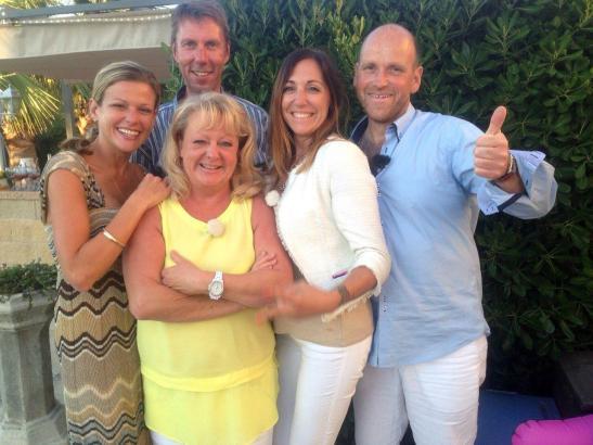 Alle Teilnehmer vereint auf einem Bild – von links nach rechts: Miriam, Stefan, Elisabeth, Maria und Axel.