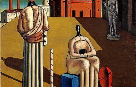 """""""Le muse inquietanti"""" (Die beunruhigenden Musen)"""" steht für die metaphysische Phase Giorgio de Chiricos."""