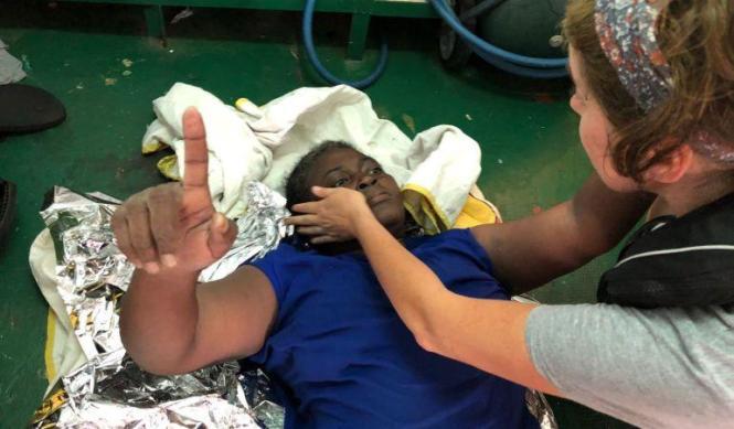 Die überlebende Schiffbrüchige aus Kamerun heißt Josephine und wird nun auf Mallorca erwartet.
