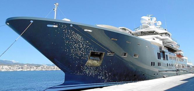 Am Montag kam die Andromeda zum Tanken in den Hafen von Palma.