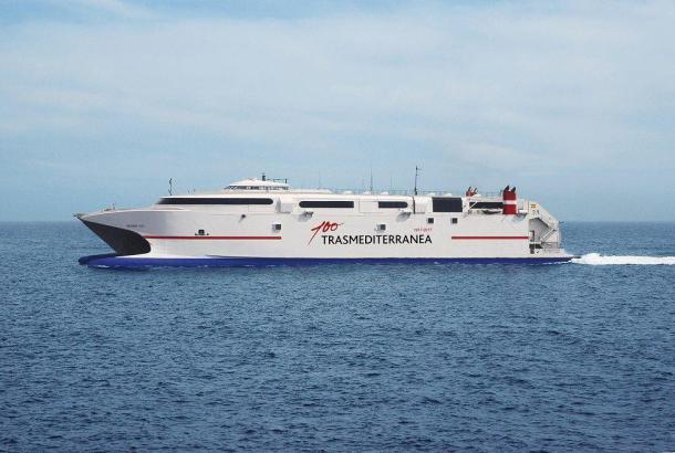 Die Trasmediterranea verbindet unter anderem die Balearen und das spanische Festland mit Nordafrika.