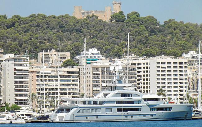 "Die Megayacht ""Cloudbreak"" zu Besuch in Palma."