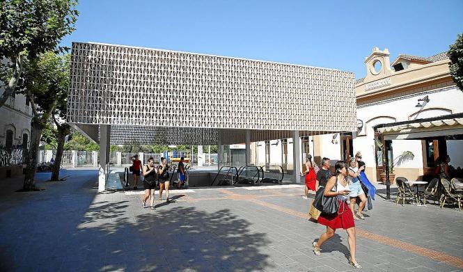 Am Mittwoch wurde die neue Eingangsüberdachung der Estacio Intermodal in Palma offiziell eingeweiht.