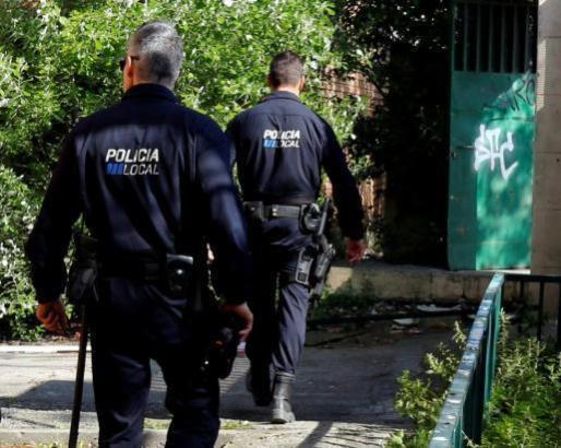Das Archivfoto zeigt Polizeibeamte beim einem Einsatz in Palma.