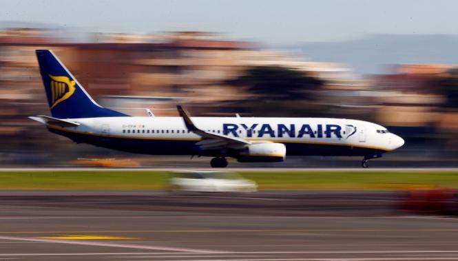 Startender Ryanair-Flieger.