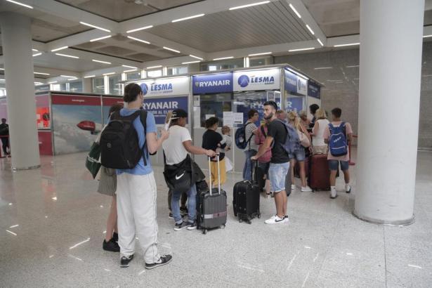 24 Ryanair-Flüge von und nach Palma wurden bislang gestrichen.