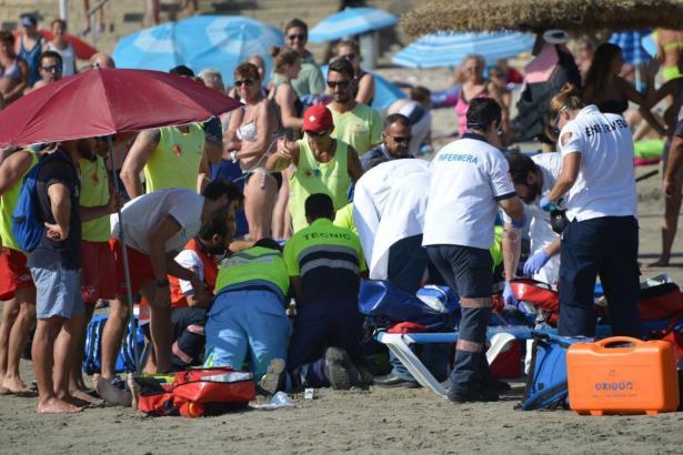 Die Rettungskräfte konnten nichts mehr für die beiden Schwimmer tun.