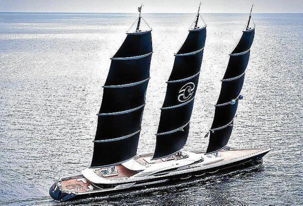 """106 Meter misst die """"Black Pearl"""", damit ist sie die zurzeit längste Segelyacht der Welt."""