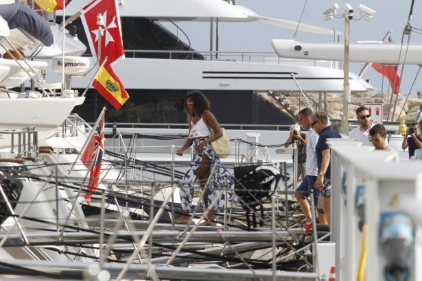 Michelle Obama im Sommer 2017 auf Mallorca.