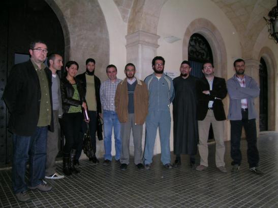 Mohamed Attaouil (vierter von links) mit Moslemvertretern und konservativen Kommunalpolitikern im Jahr 2008 auf Malorca.